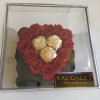 Eternity Heart With Ferrero in Acrylic Red
